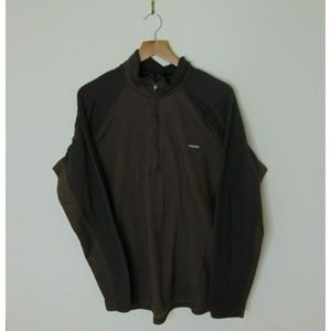 Patagonia L Performance Base Layer Shirt Brown